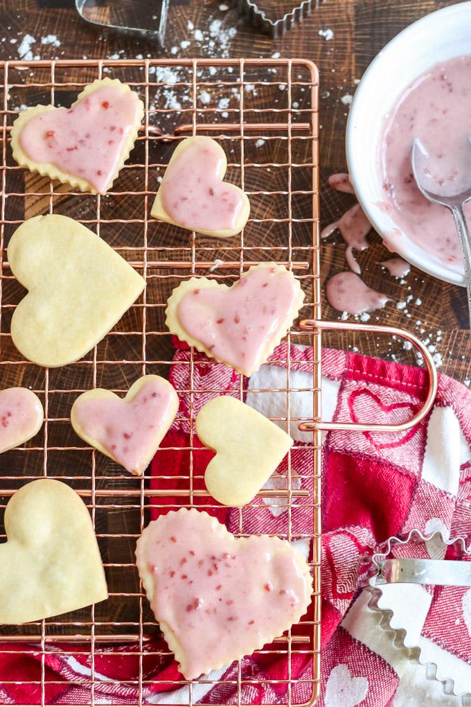 raspberry glaze for cookies