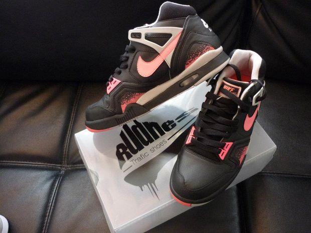 nike air tech challenge ii black lava custom 02 Nike Air Tech Challenge II Black Lava Custom