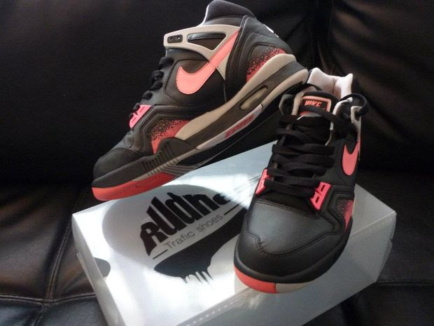 nike air tech challenge ii black lava custom 04 Nike Air Tech Challenge II Black Lava Custom