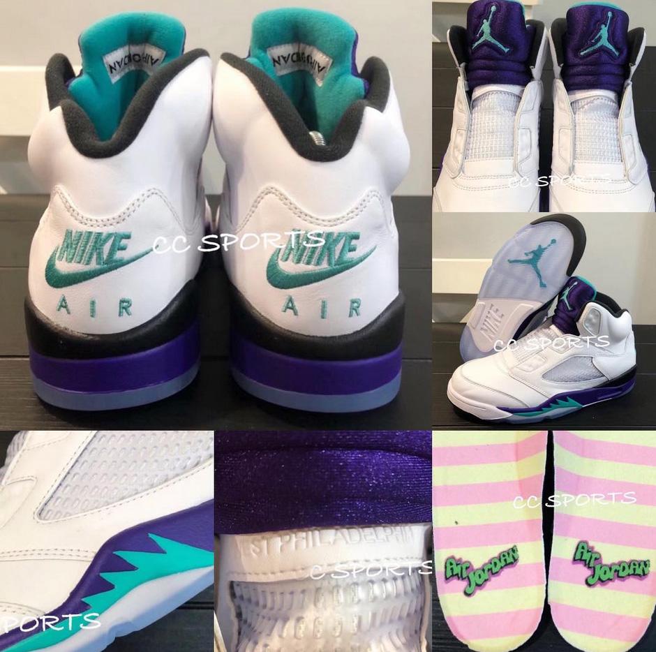 brand new 12792 be955 Jordan 5 Grape Fresh Prince Of Bel Air Foot Locker   air 5 ...