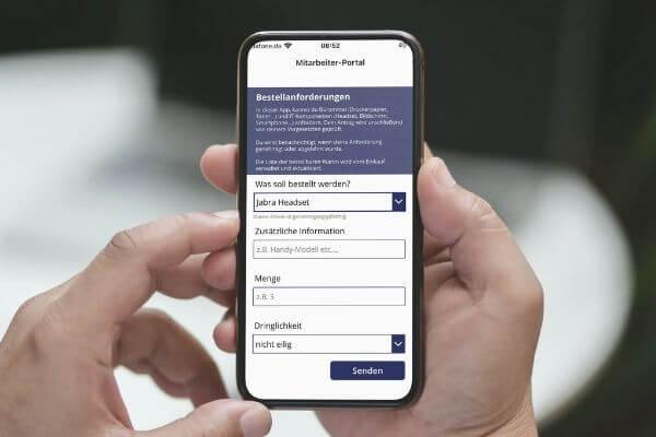 Materialanforderung per App