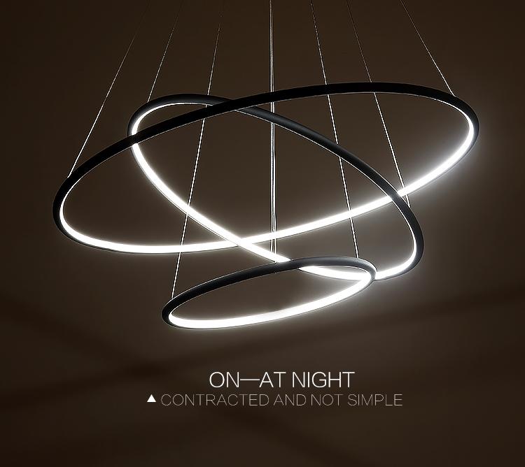 Multi Ring Modern LED Pendant Light  Westworld Light