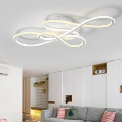 Ceiling Light Fixtures For Living Room Black And White Curtains In Modern Lighting Contemporary Place Ribbon Fixture