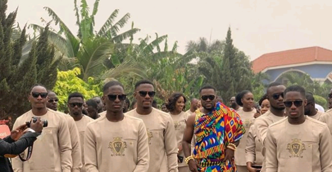 Photos: This is how son of Kwame Despite, Kennedy arrived at his traditional wedding