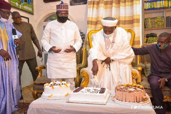 Sheikh Sharubutu turned 101 on Thursday, and the Vice President paid him a surprise visit