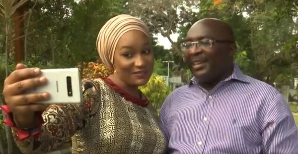 Vice President Dr Mahamudu Bawumia and his wife, Hajia Samira Bawumia