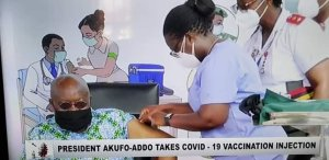 COVID-19: President Akufo-Addo Gets Vaccine Live on Tv