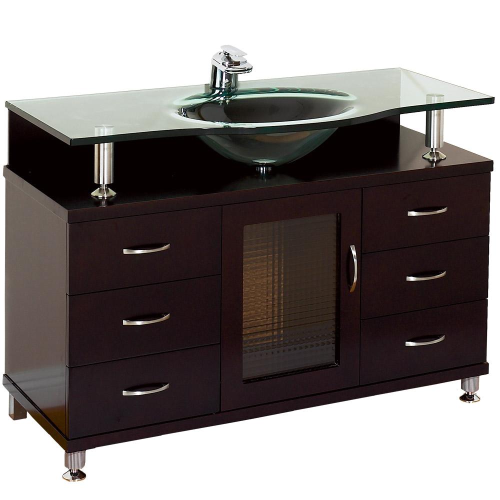 Accara 42 Bathroom Vanity with Drawers  Espresso w