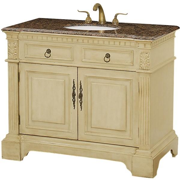"Somerset 43"" Traditional Wood Bathroom Vanity - Antique"