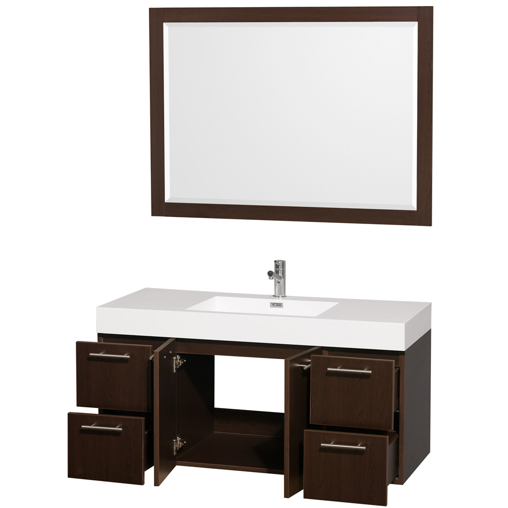 Amare 48 WallMounted Bathroom Vanity Set with Integrated