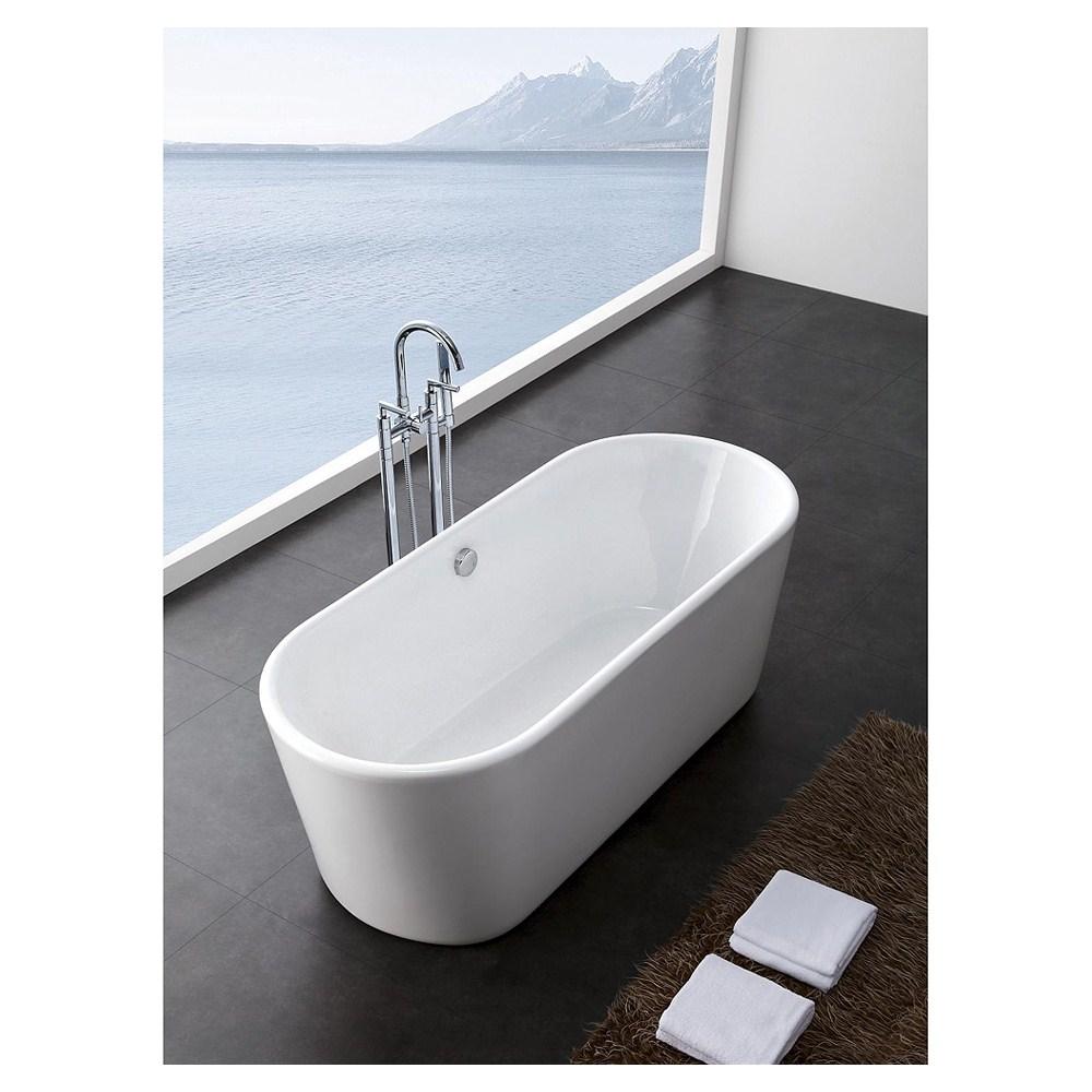 Jenna 59 Small Soaking Bathtub by Wyndham Collection