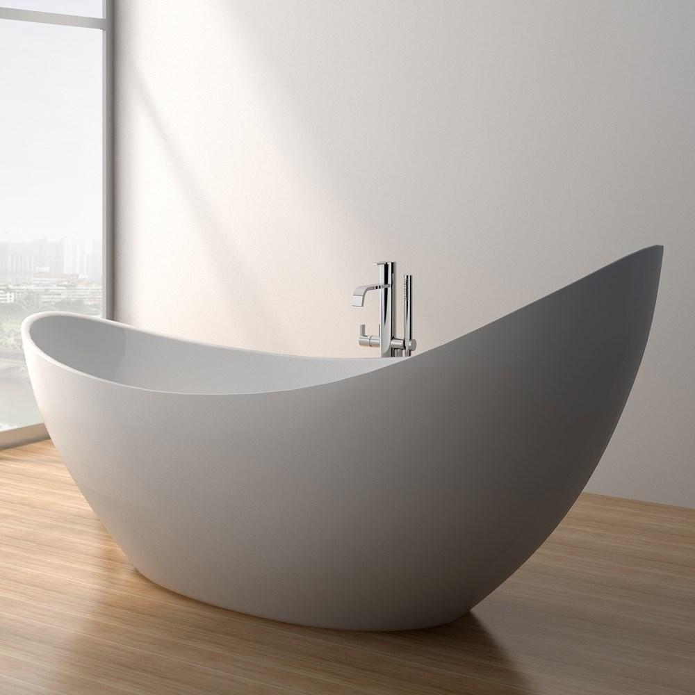 Debbi 74 Soaking Bathtub Matte White Free Shipping
