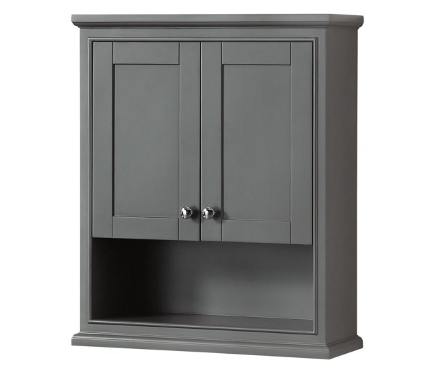 Deborah Over Toilet Wall Cabinet By Wyndham Collection Dark Gray Free Shipping Modern Bathroom