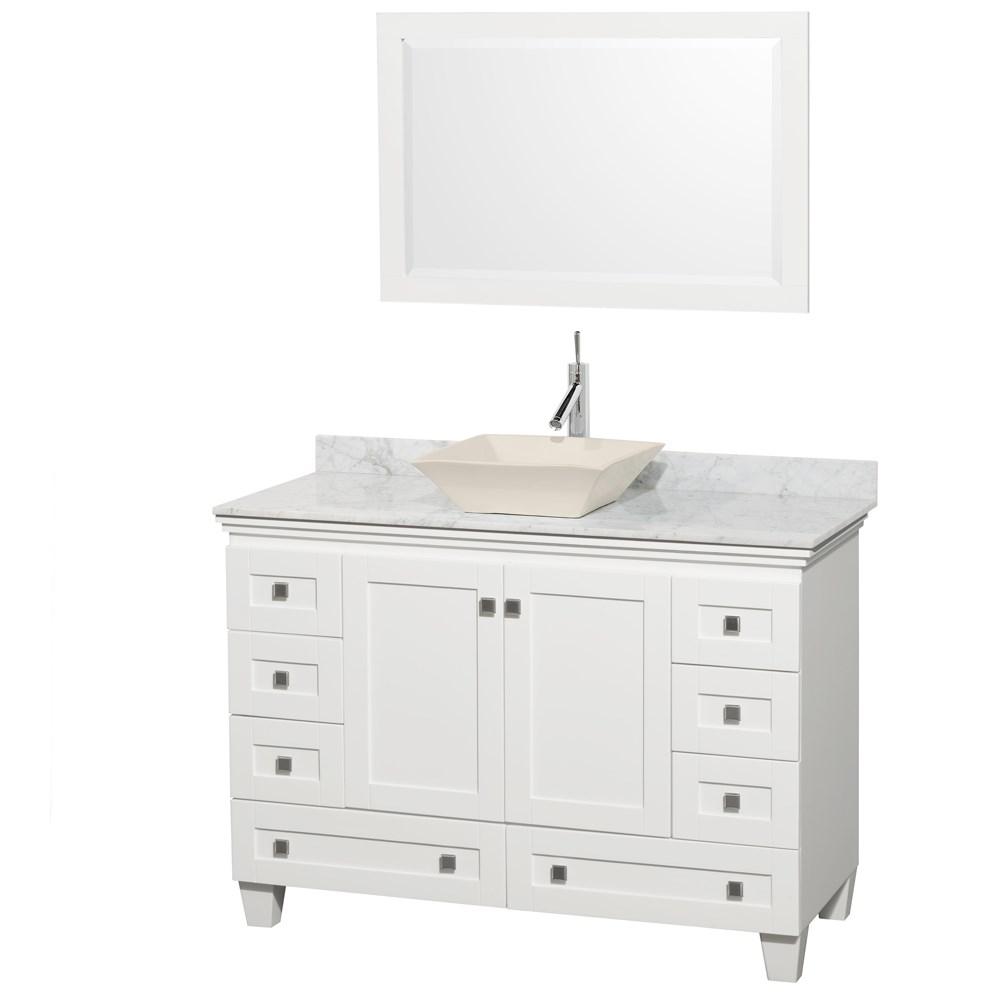 Acclaim 48 Single Bathroom Vanity For Vessel Sink White Free Shipping Modern Bathroom