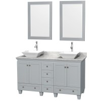 "Acclaim 60"" Double Bathroom Vanity for Vessel Sinks by ..."