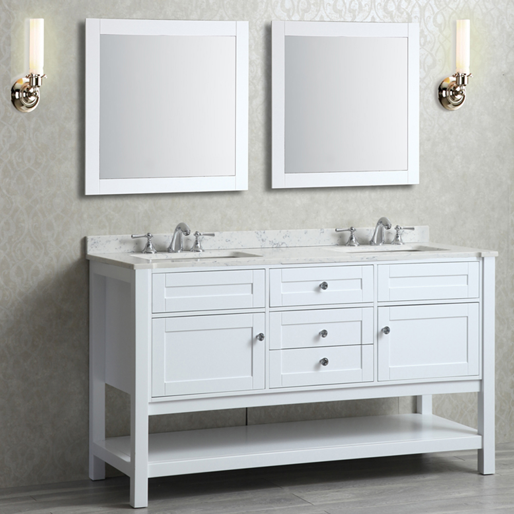 Seacliff by Ariel Mayfield 60 Double Sink Vanity Set with