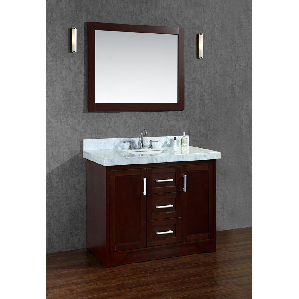 Seacliff by Ariel Ashbury 42 Single Sink Vanity Set with