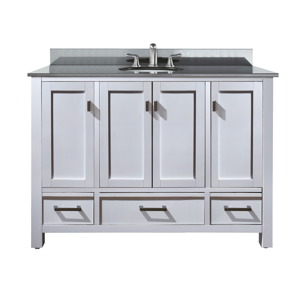 Avanity Modero 48 Bathroom Vanity  White  Free Shipping
