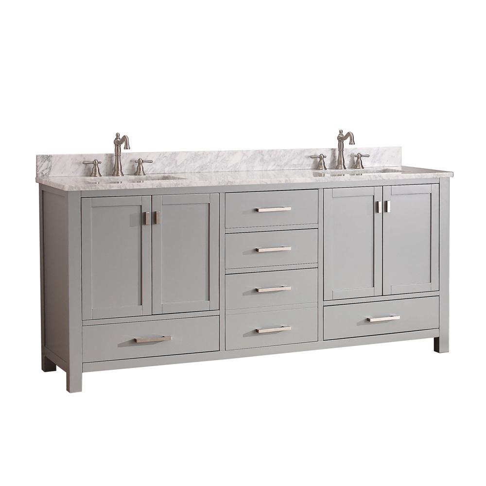 Avanity Modero 72 Double Bathroom Vanity  Chilled Gray