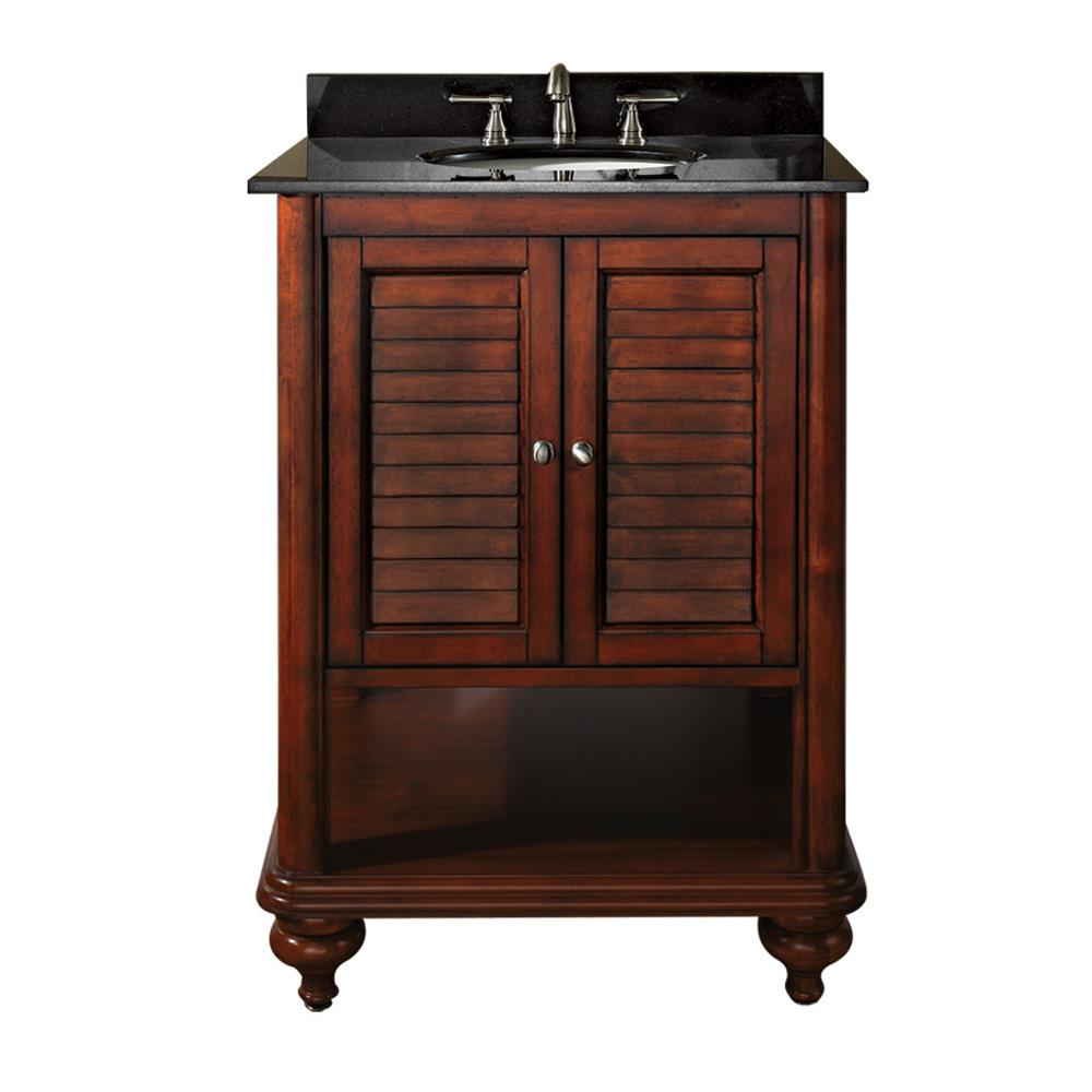 Avanity Tropica 25 Bathroom Vanity with Countertop  Antique Brown  Free Shipping  Modern