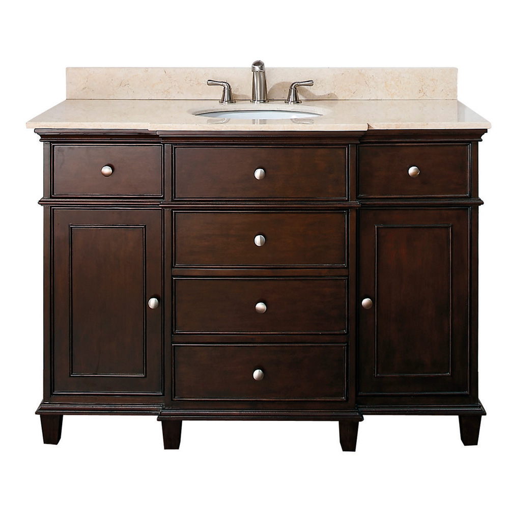 Avanity Windsor 48 Bathroom Vanity  Walnut  Free