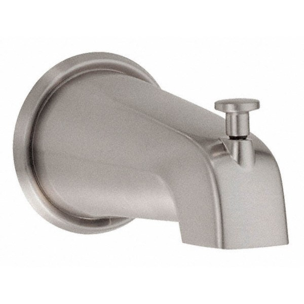 Brushed Nickel Tub Spout with Diverter