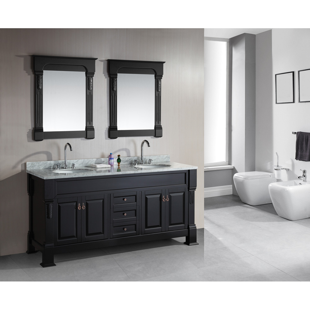 Design Element Marcos 72 Double Sink Vanity Set with