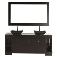 "Design Element Oasis 60"" Double Sink Vanity Set - Espresso ..."