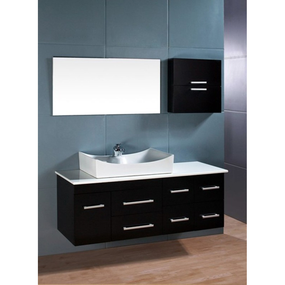Design Element Springfield 53 Single Sink Vanity Set  Espresso  Free Shipping  Modern Bathroom