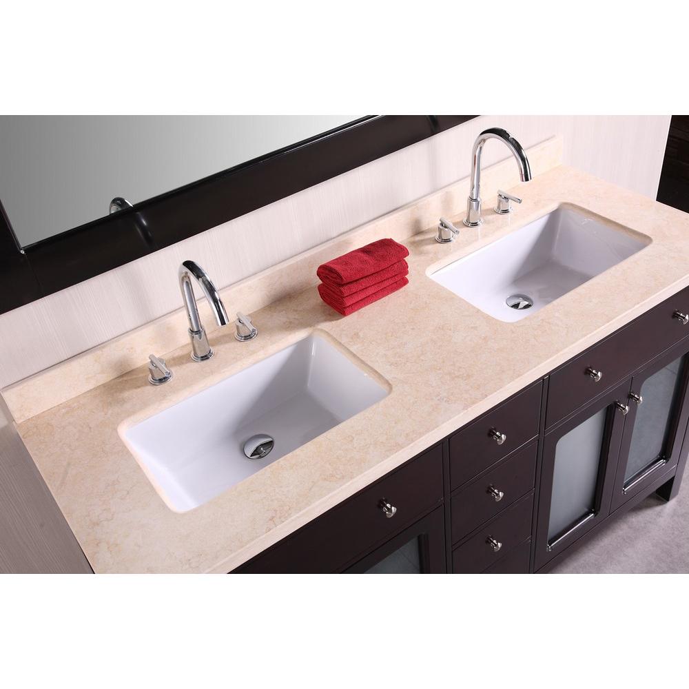 Design Element Venetian 60 Double sink bathroom vanity