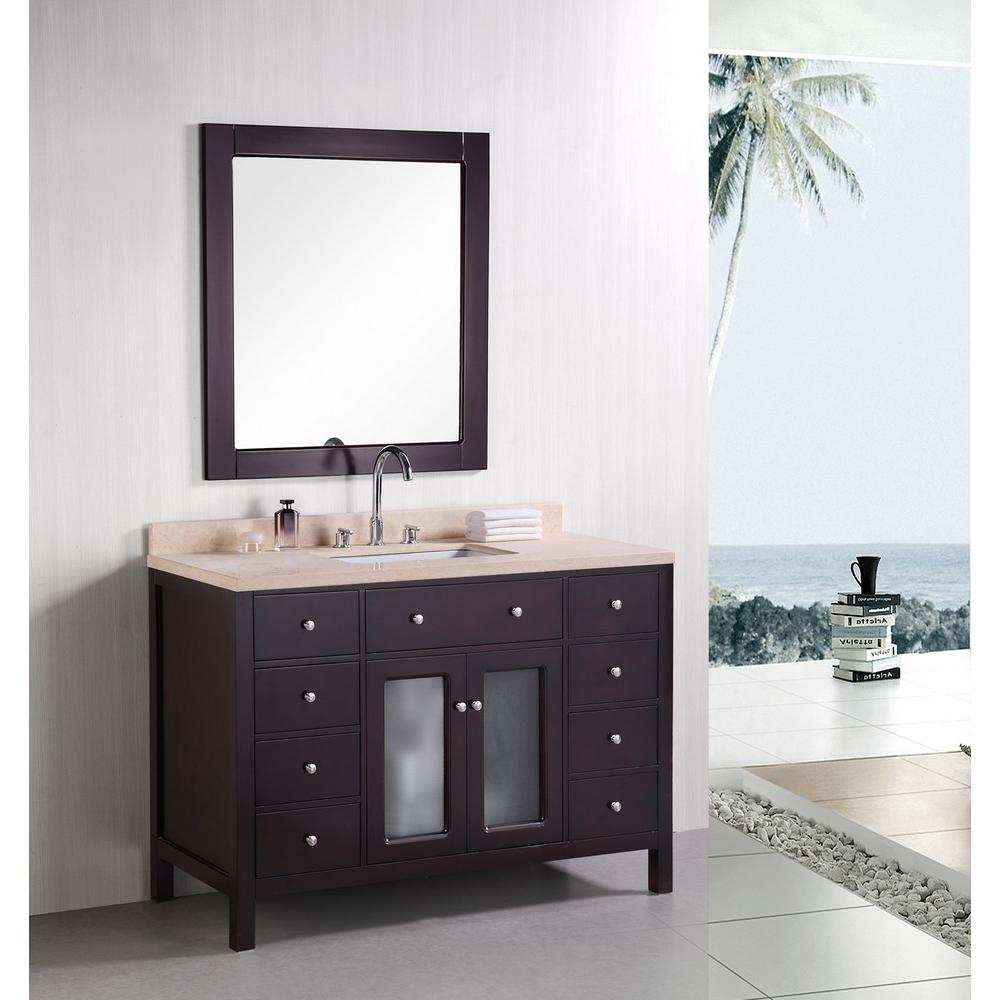 Design Element Venetian 48 Single Sink Bathroom Vanity