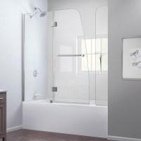 Bath Authority DreamLine Aqua Frameless Hinged Tub Door ...