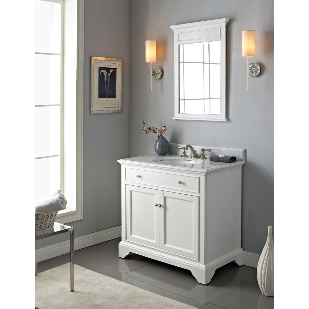 Fairmont Designs Framingham 36 Vanity  Polar White  Free Shipping  Modern Bathroom