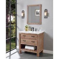 "Fairmont Designs Napa 36"" Open Shelf Vanity for Integrated ..."