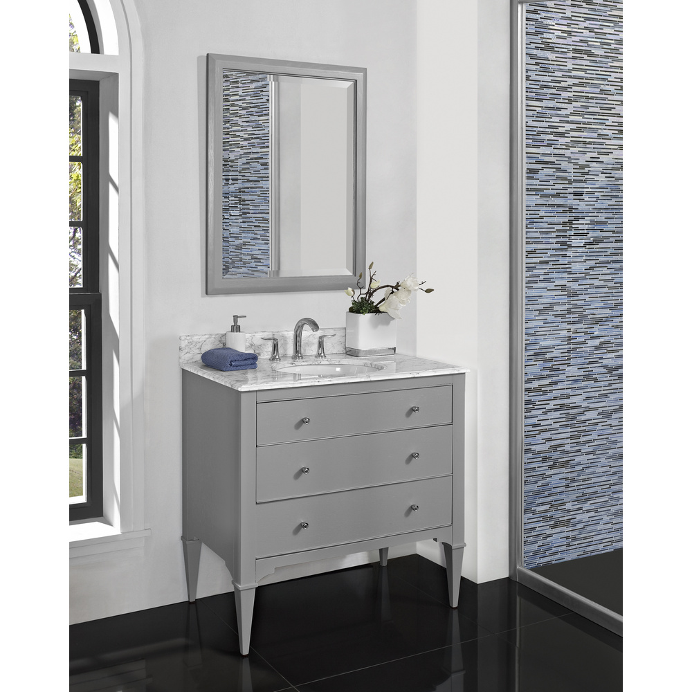 Fairmont Designs Charlottesville 36 Vanity for Undermount Oval Sink  Light Gray  Free