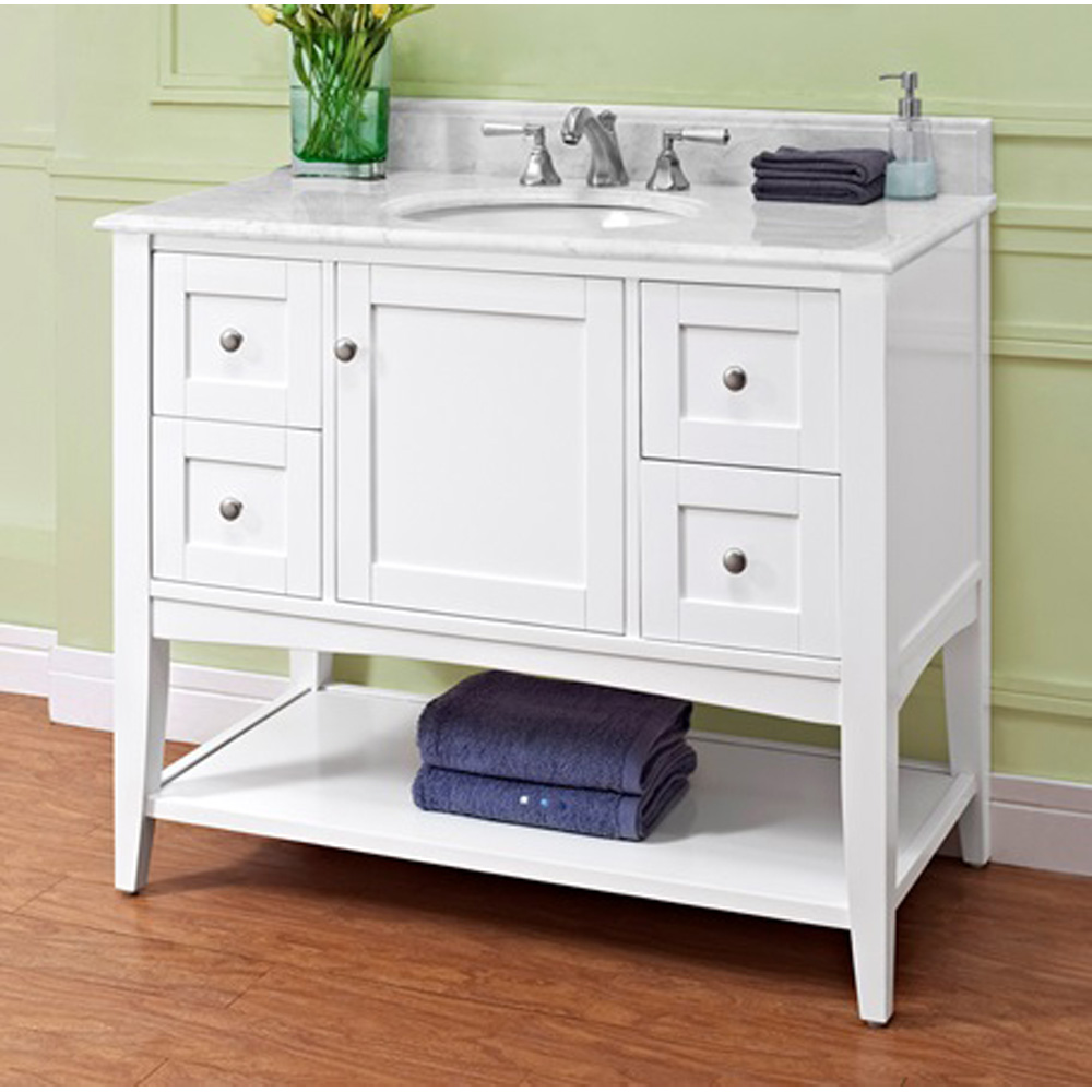 Fairmont Designs Shaker Americana 42 Vanity  Open Shelf