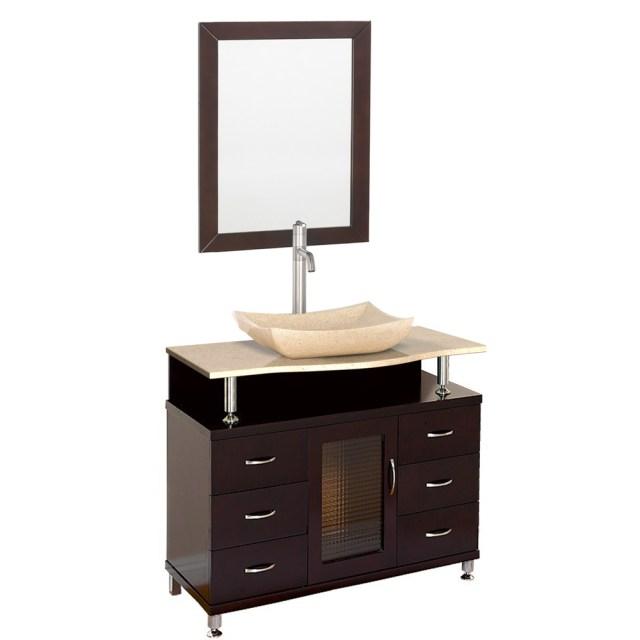 "Accara 36"" Bathroom Vanity with Drawers - Espresso w ... on {keyword}"