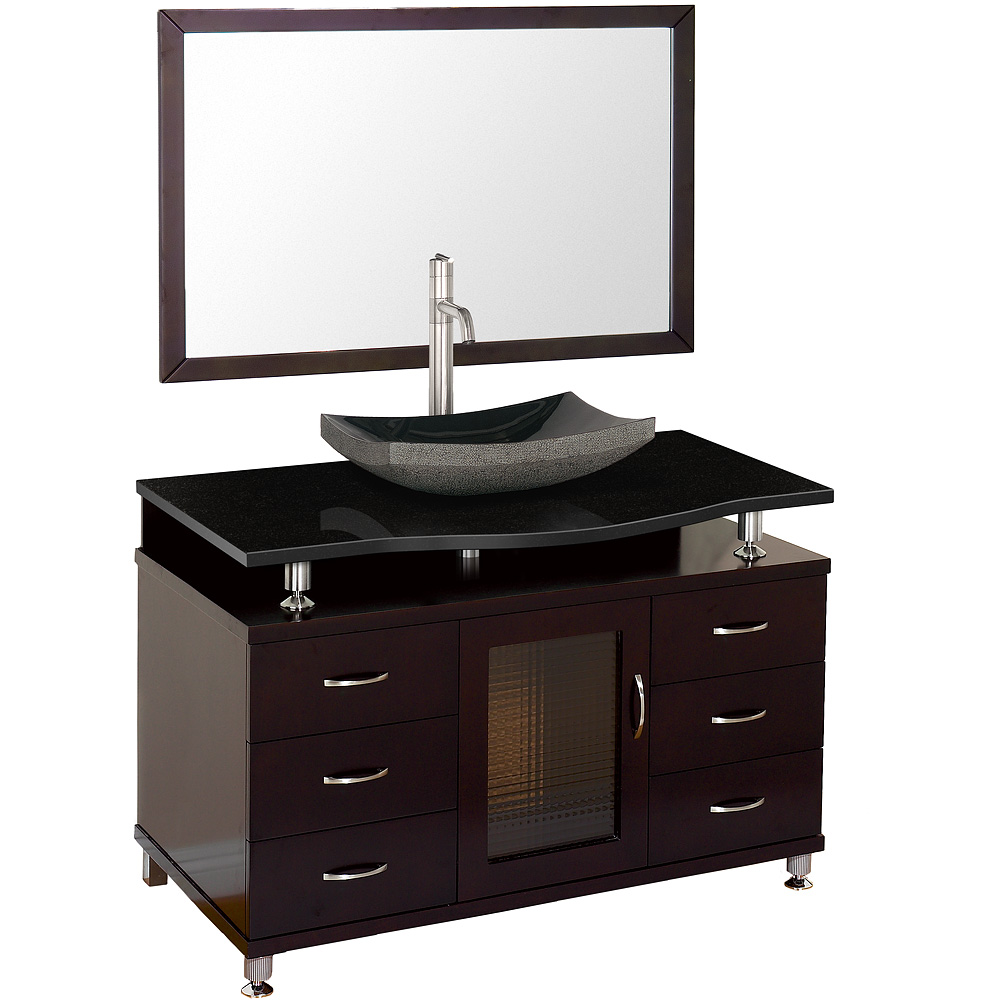 Accara 48 Quot Bathroom Vanity With Drawers Espresso W