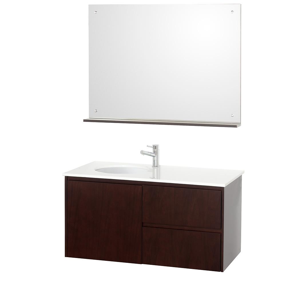 """Fellino 42"""" Wall Mounted Bathroom Vanity Set"""