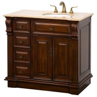 "Nottingham 38"" Traditional Single Bathroom Vanity with ..."