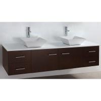 "Bianca 72"" Wall-Mounted Double Bathroom Vanity - Espresso ..."