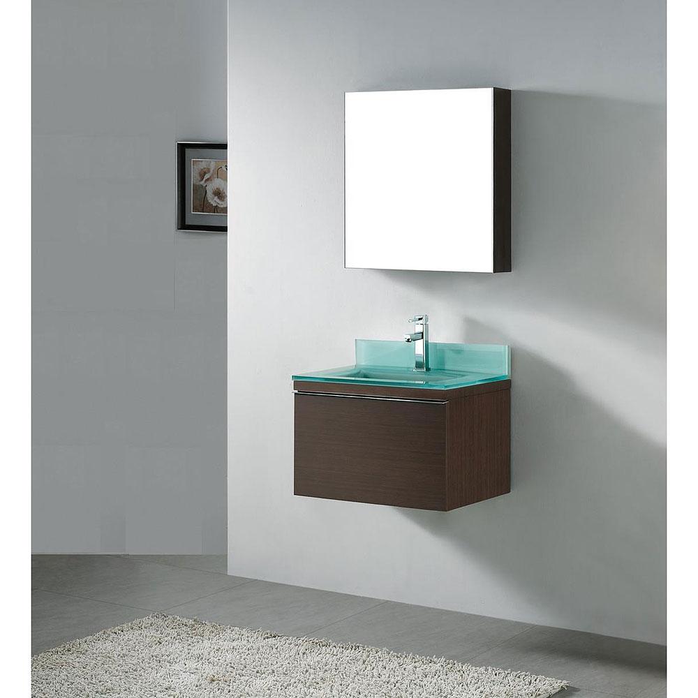 Madeli Venasca 24 Bathroom Vanity with Glass Basin