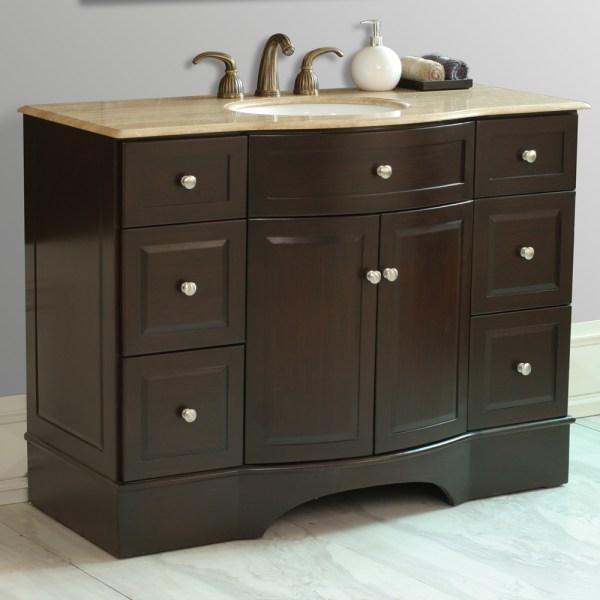 Single Sink Bathroom Vanity with Marble Top