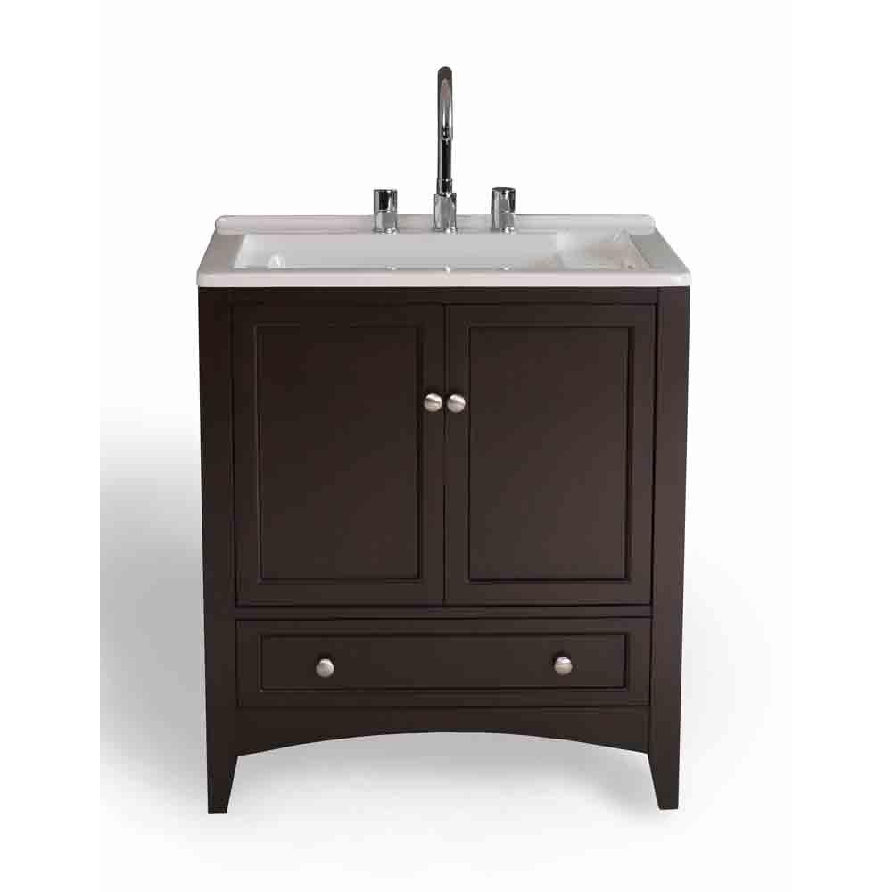 stufurhome 30 5 laundry utility sink vanity espresso