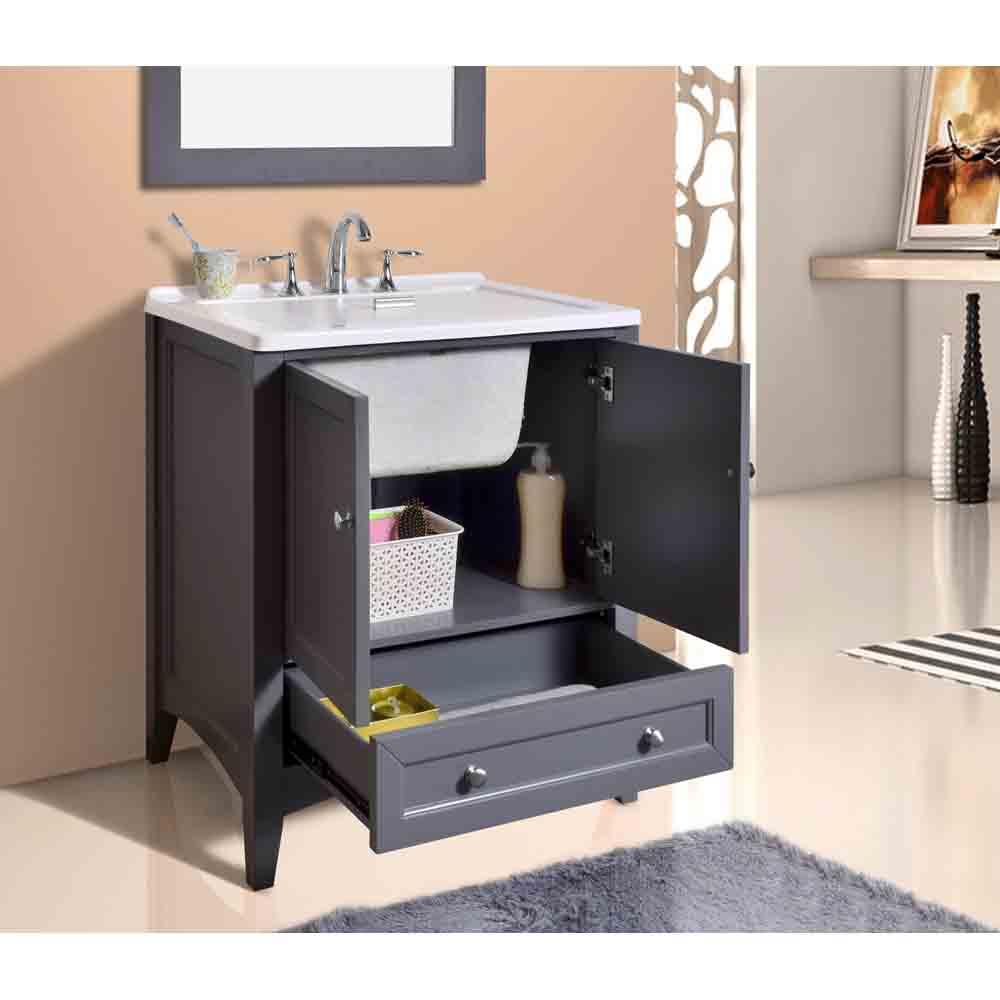 Stufurhome 305 Laundry Utility Sink Vanity  Gray  Free