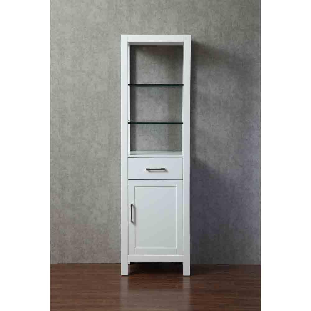 Stufurhome Gracie 20 Inch Linen Cabinet White Free