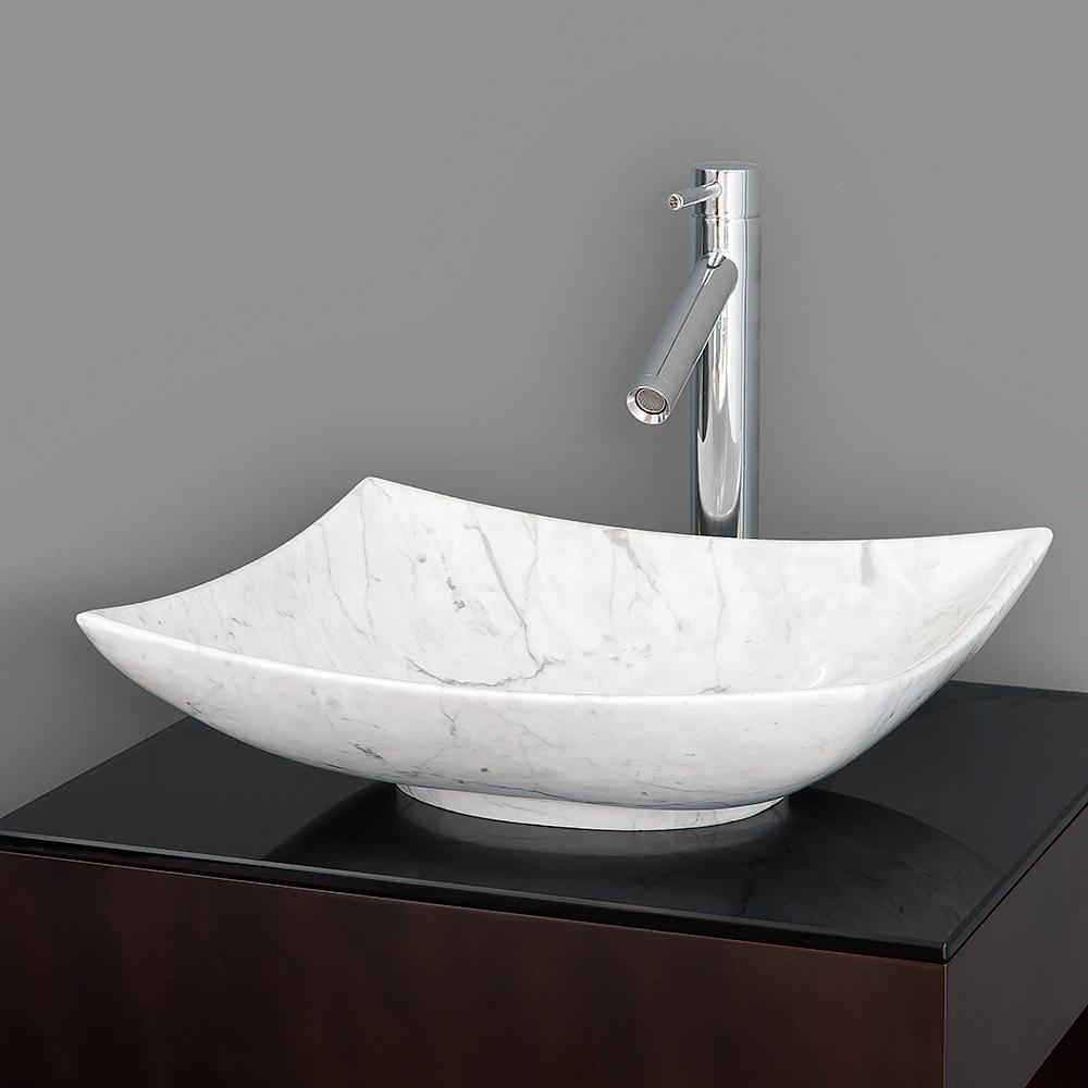 Arista Vessel Sink by Wyndham Collection  White Carrara