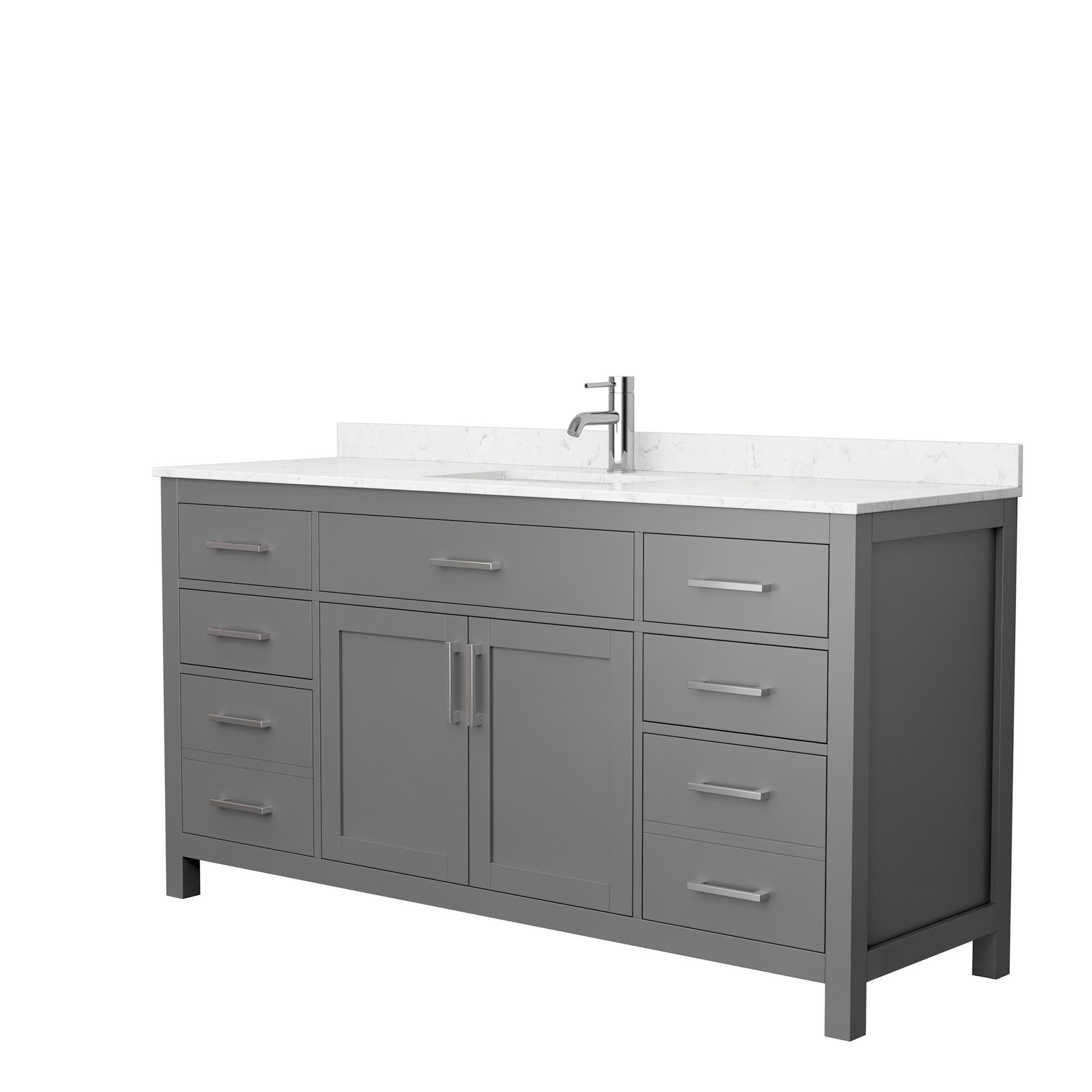 beckett 66 single bathroom vanity by wyndham collection dark gray