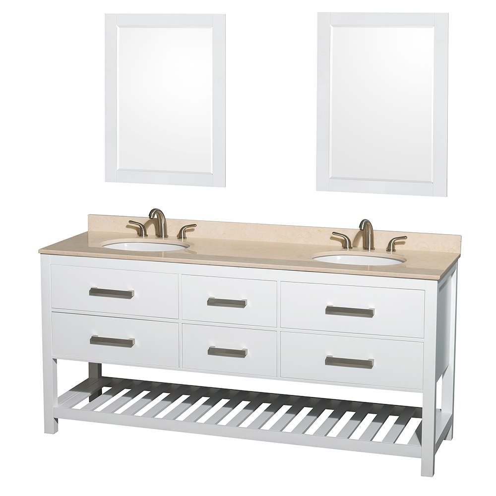 Natalie 72 Double Bathroom Vanity by Wyndham Collection