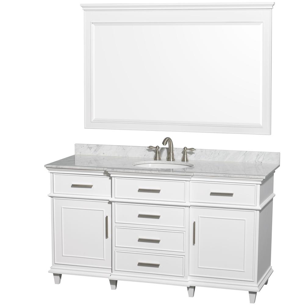 berkeley 60 single bathroom vanity by wyndham collection white